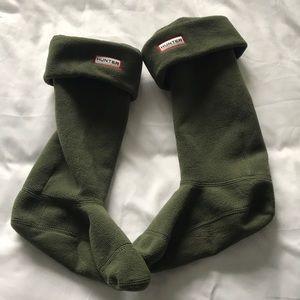 Accessories - Green fleece hunter sock liners